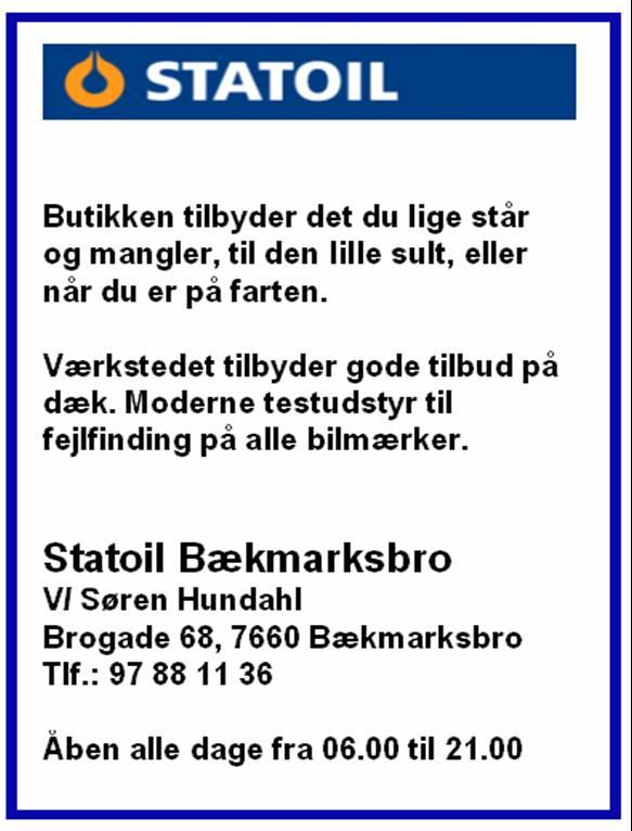 Statoil, Bækmarksbro